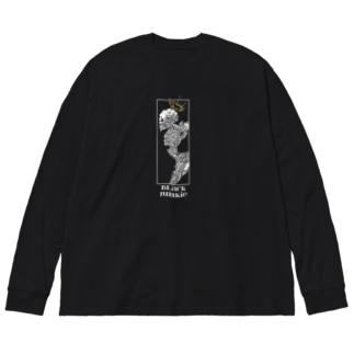 CROWN Big silhouette long sleeve T-shirts