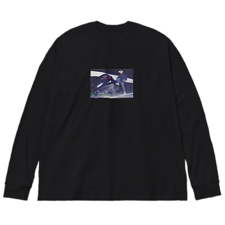 crushed car with a boy pt.2 Big silhouette long sleeve T-shirts