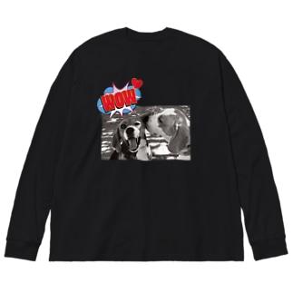 期間限定★ビーグルKISS Big silhouette long sleeve T-shirts