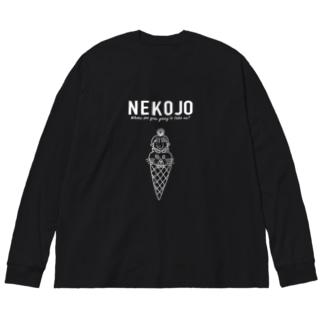 NEW NEKOJO Big silhouette long sleeve T-shirts