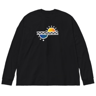 El Sol y La Luna/太陽と月 Big silhouette long sleeve T-shirts