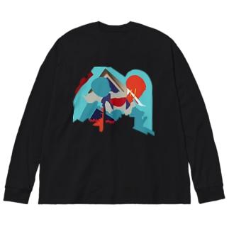 鏡像魔神2 Big silhouette long sleeve T-shirts