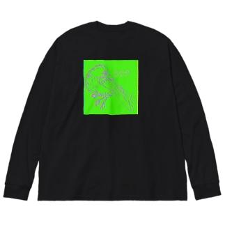 -八咫烏- Big silhouette long sleeve T-shirts