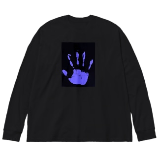 仁烏巣-niusu- 疑心暗鬼の-八咫烏- Big silhouette long sleeve T-shirts
