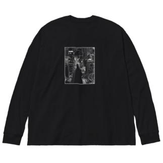 ごちゃ白 Big silhouette long sleeve T-shirts