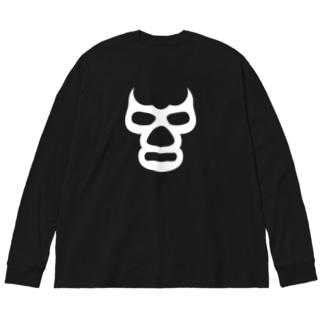 BLUE DEMON MASK / ブルーデモンマスク Big silhouette long sleeve T-shirts
