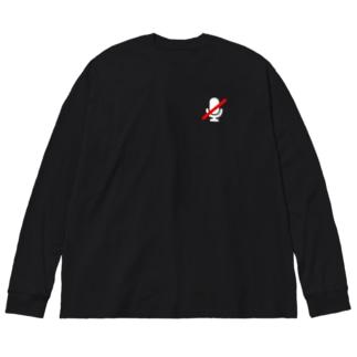 さりげなくミュートになってるT Big silhouette long sleeve T-shirts