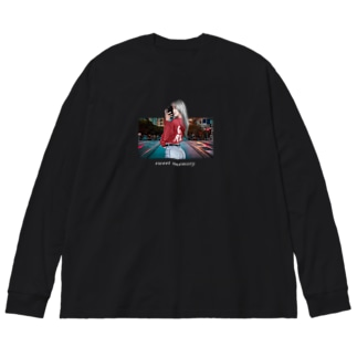 sweet memory Big silhouette long sleeve T-shirts