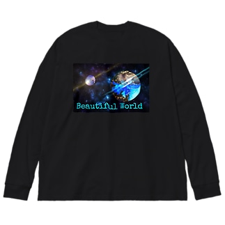 Galaxy★ Big silhouette long sleeve T-shirts