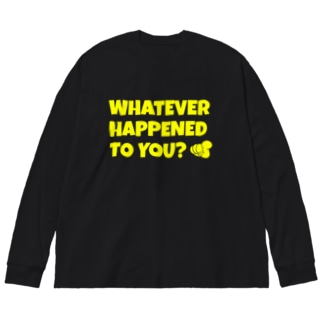 WHATEVER HAPPENED TO YOU(黄) Big silhouette long sleeve T-shirts