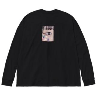 ぴえんロンT Big silhouette long sleeve T-shirts