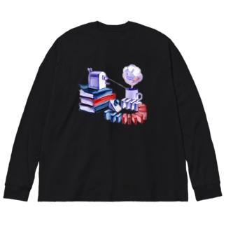 DOMINO Big silhouette long sleeve T-shirts