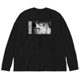 制服愛好委員会 Big silhouette long sleeve T-shirts