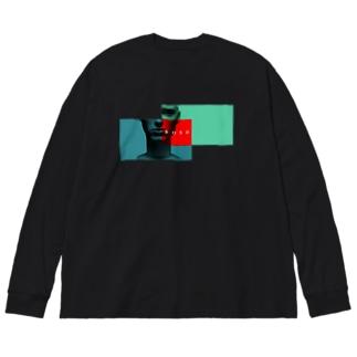 ニメンセイ(重) Big silhouette long sleeve T-shirts
