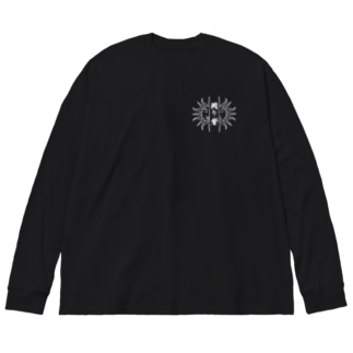 岡の者グッズ Big silhouette long sleeve T-shirts