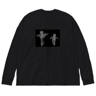 クリオネ兄弟 Big silhouette long sleeve T-shirts