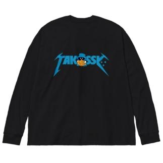 メタっし∵ Big silhouette long sleeve T-shirts