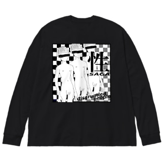性 -SAGA- Big silhouette long sleeve T-shirts