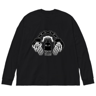 よしたく兵団 2020ver 社畜ロゴ Big silhouette long sleeve T-shirts