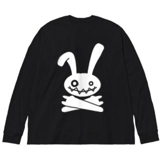 HEAVY METAL BUNNY(ホワイトプリント) Big silhouette long sleeve T-shirts