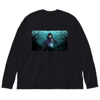 明けない夜 Long Sleeve T-shirt Big silhouette long sleeve T-shirts
