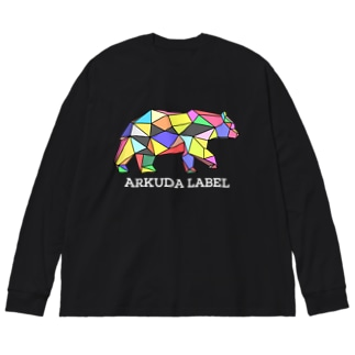 ARKUDA LABEL 白文字 Big silhouette long sleeve T-shirts