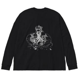ネクロエッグ Big silhouette long sleeve T-shirts
