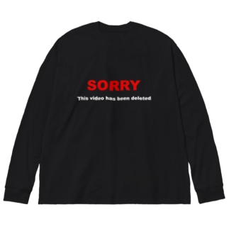 BLICK + BLACK の絶許XV -This video has been deleted- Big silhouette long sleeve T-shirts