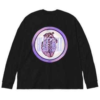 HEARTBEAT Big silhouette long sleeve T-shirts