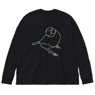 君のそばに 線画 Big silhouette long sleeve T-shirts