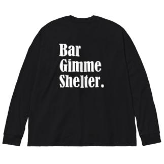 BarGimmeShelter.No.1 Big Silhouette Long Sleeve T-Shirt