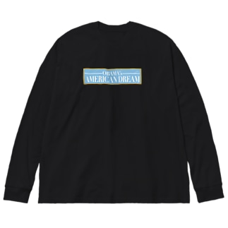 アメリカンドリーム Big silhouette long sleeve T-shirts