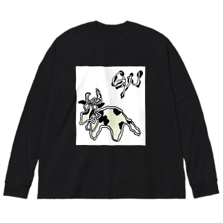 ushi-gyu Big silhouette long sleeve T-shirts
