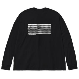 TURBO (White logo) Big silhouette long sleeve T-shirts