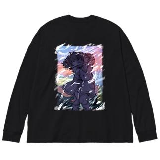 冬とかいうマジで寒くて最悪の季節 Big silhouette long sleeve T-shirts