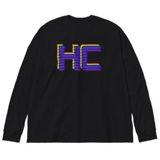 重複HCカラフルver. Big silhouette long sleeve T-shirts