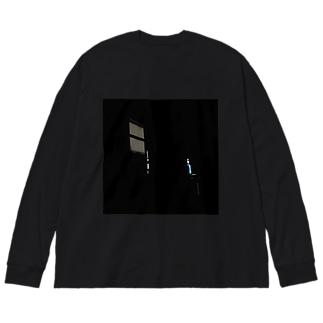 ひかり Big silhouette long sleeve T-shirts