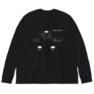 セット図Tシャツ Big silhouette long sleeve T-shirts