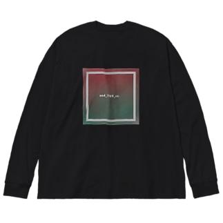 駄文 Big silhouette long sleeve T-shirts