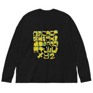 A〜Z アルファベット グラフティー Big silhouette long sleeve T-shirts