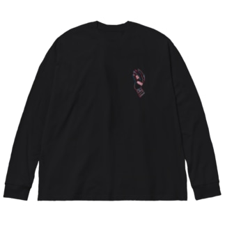 手・包帯 Big silhouette long sleeve T-shirts