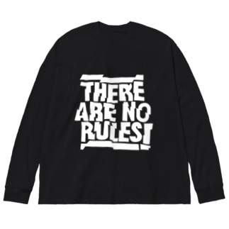 THERE ARE NO RULES Big silhouette long sleeve T-shirts