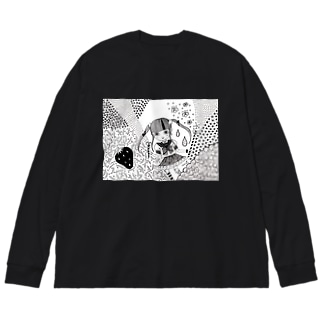 とくべつ強くなりたい! Big silhouette long sleeve T-shirts