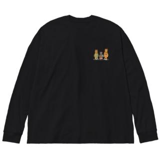 モンジャクシンズ御三家 Big silhouette long sleeve T-shirts