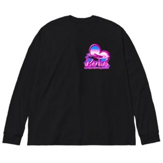 ラブlove  Big silhouette long sleeve T-shirts