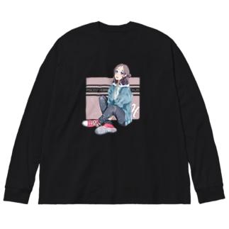 La Baleine / ラ・バレーヌのうお座xCONVERSE (濃) Big silhouette long sleeve T-shirts