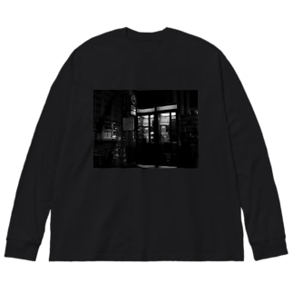 Telephoneboxs. Big silhouette long sleeve T-shirts