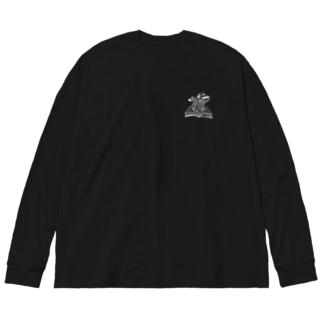 すてきな本 Big silhouette long sleeve T-shirts