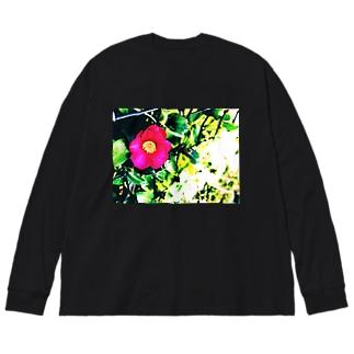 ツバキ Big silhouette long sleeve T-shirts