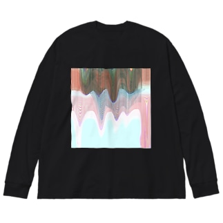 drown Big silhouette long sleeve T-shirts